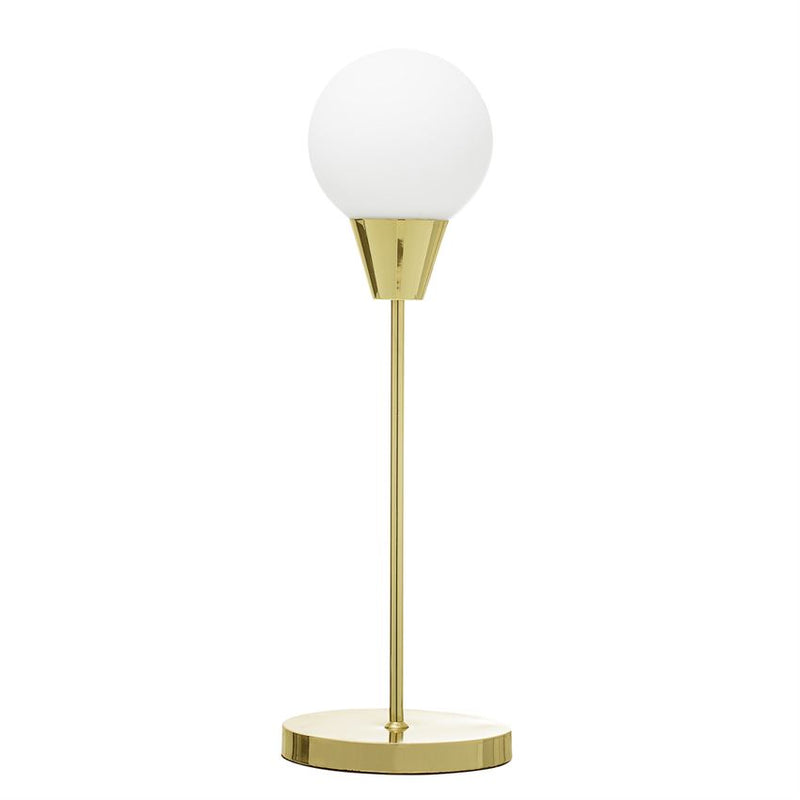 Brass Table Lamp Opal