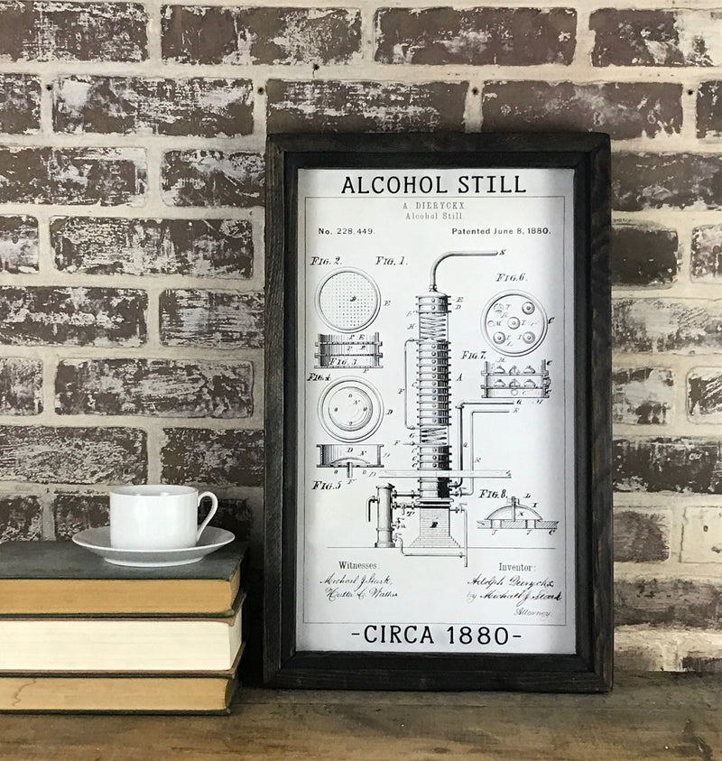 Alcohol Still  Patent 1880