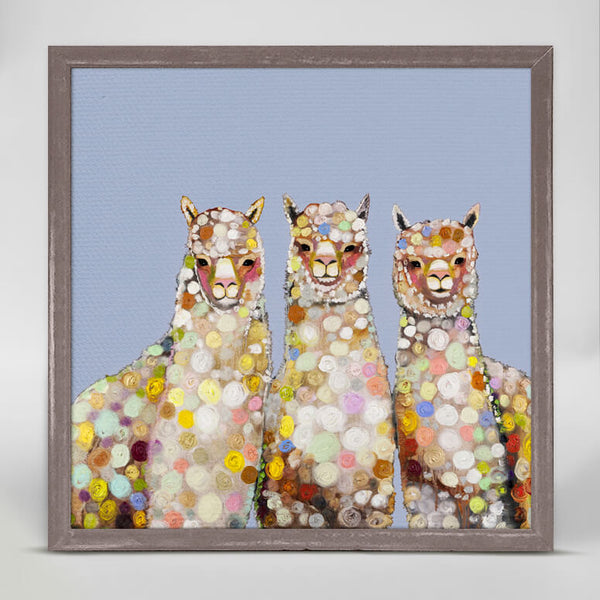 Alpaca Trio Mini Canvas