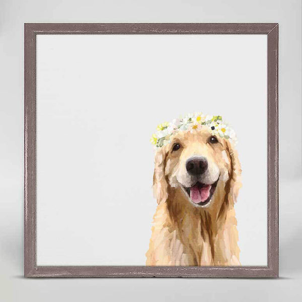 Golden Flower Girl Mini Canvas