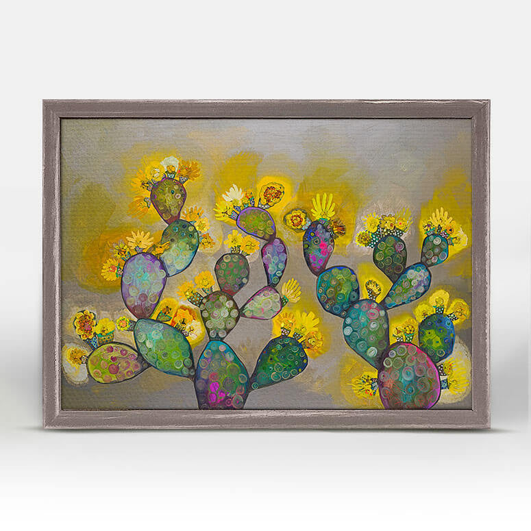 BLOOMING PRICKLY PEARS CANVAS
