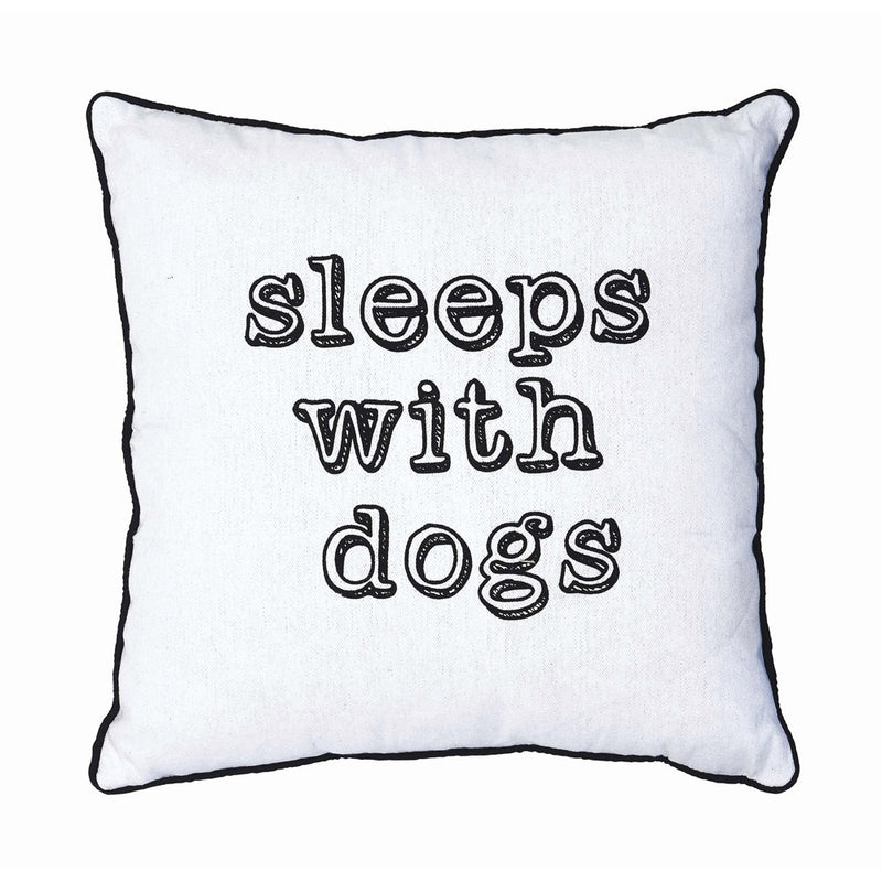 Sleeps With Dogs Pillow