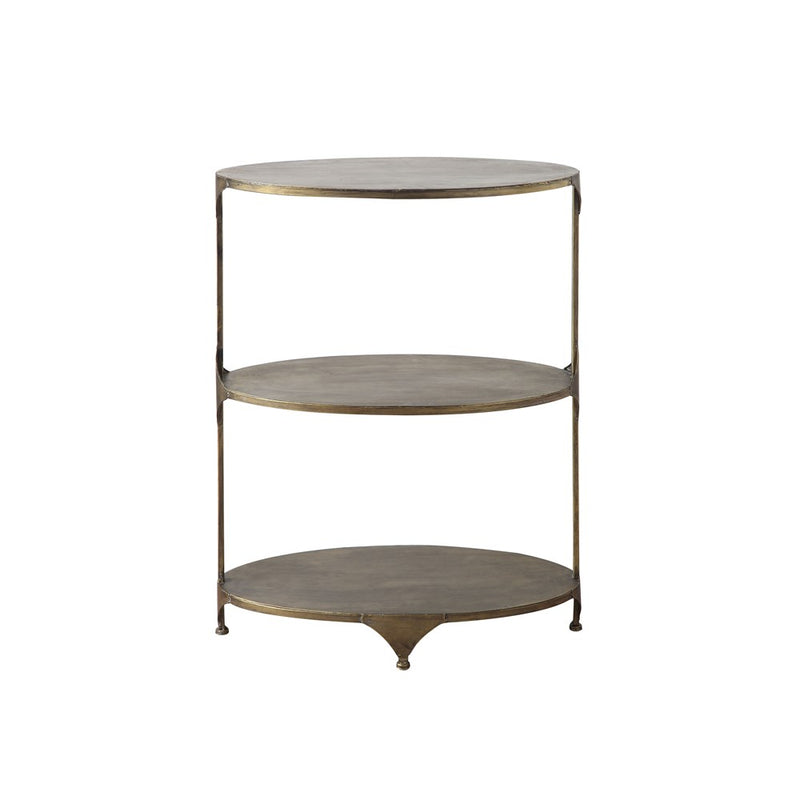Oval 3-Tier Side Table