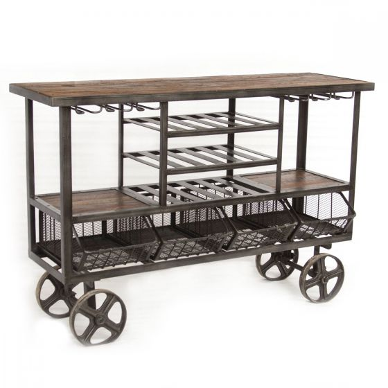 Locomotive Bar Trolley