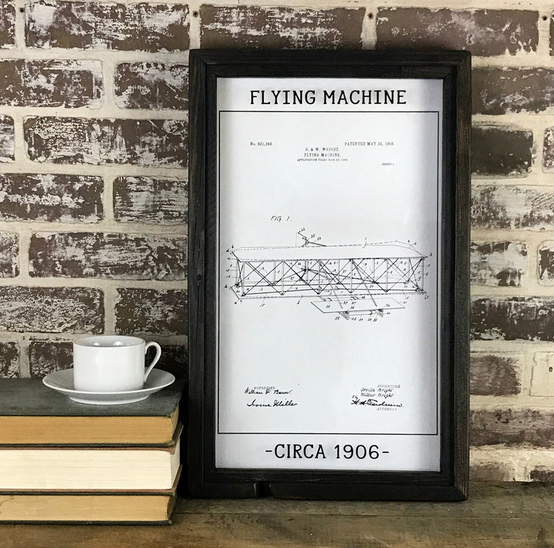 Flying Machine Patent Drawing 1906