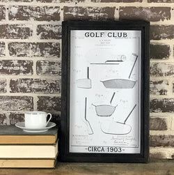 Golf Club Patent Drawing 1903