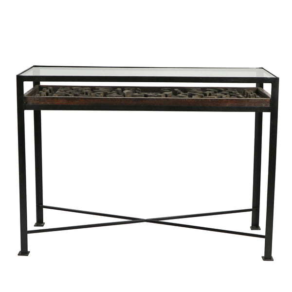 Concrete Mold Console Table
