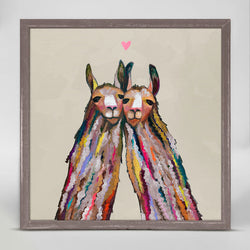 LLAMA LOVE NEUTRAL MINI CANVAS