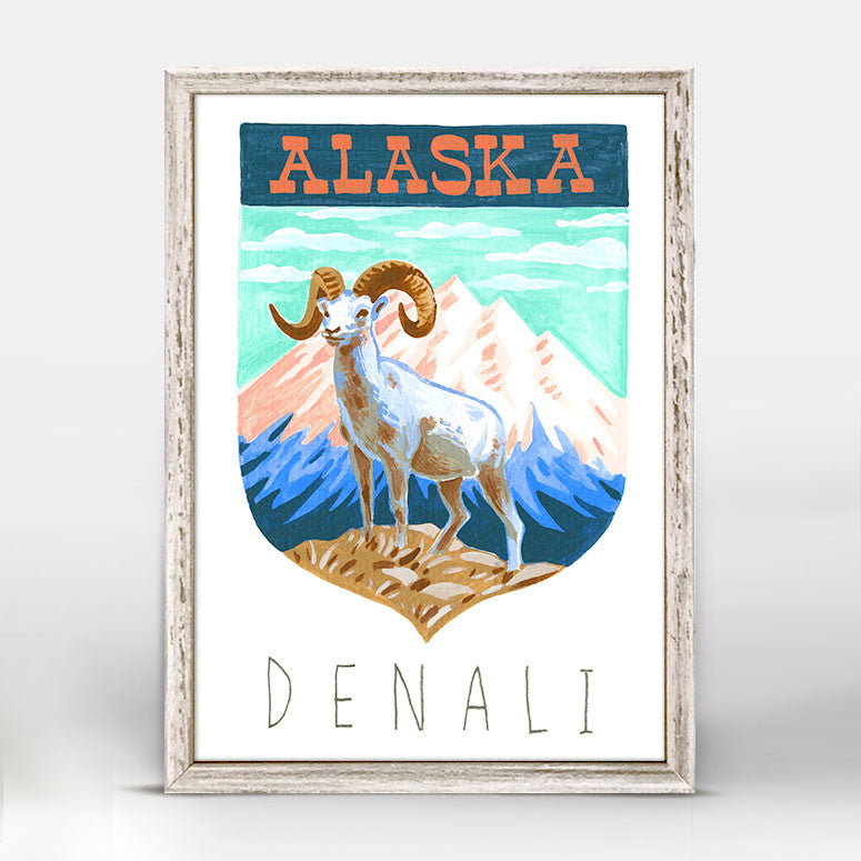 NATIONAL PARKS - DENALI MINI FRAMED CANVAS