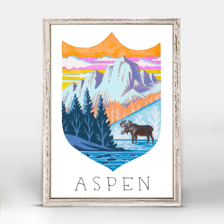 NATIONAL PARK ASPEN MINI CANVAS