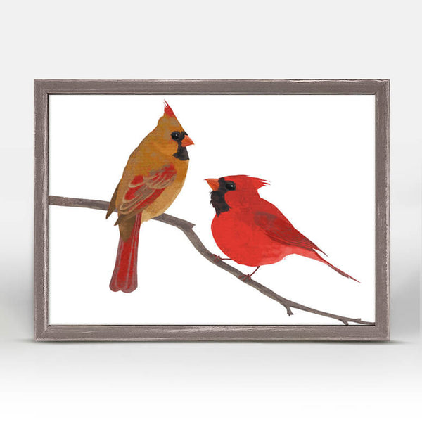 Little Cardinals Mini Canvas