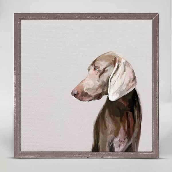 Weimaraner Mini Canvas