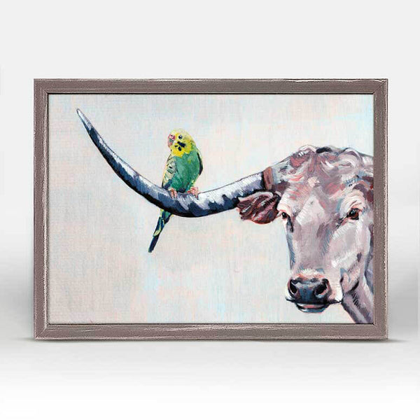 Longhorn Louie Mini Canvas