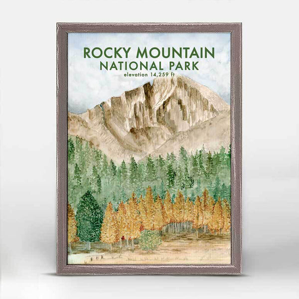 Rocky Mountains Mini Canvas