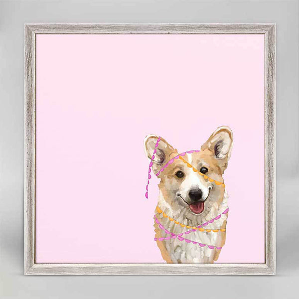 Party Corgi Mini Canvas