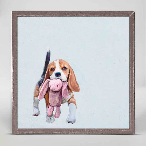 Beagle & Bunny Mini Canvas