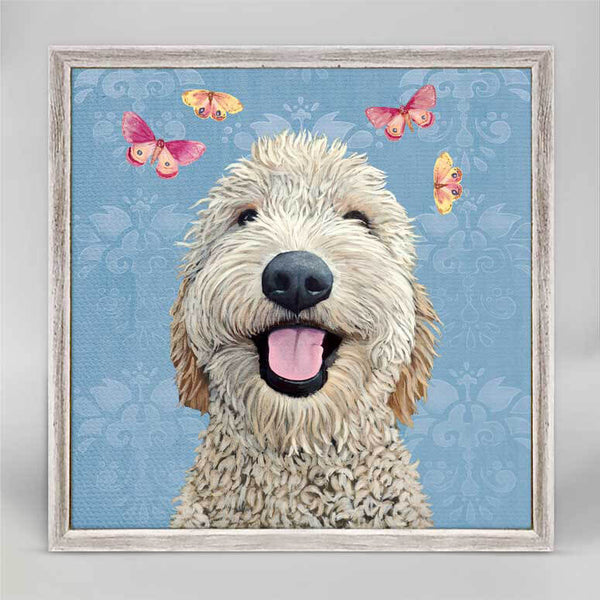 Happy Dog Mini Canvas