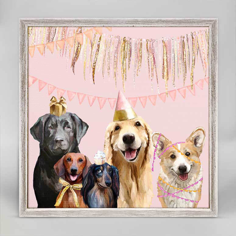Party Pups Mini Canvas