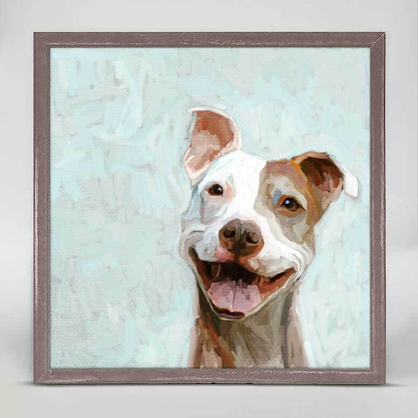 Smiling Pit Bull Mini Canvas