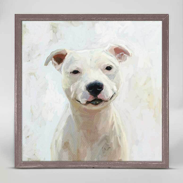 White Pit Bull Mini Canvas