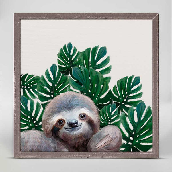 Sloth with Leaves Canvas