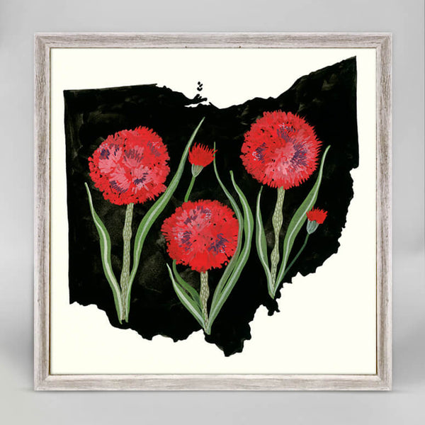 Ohio State Flower Mini Canvas
