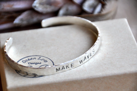 MAKE WAVES Cuff Bracelet
