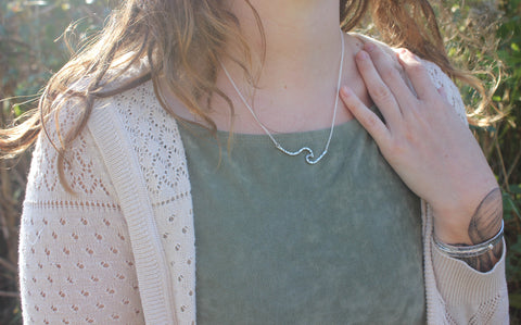 Wave Bar Necklace