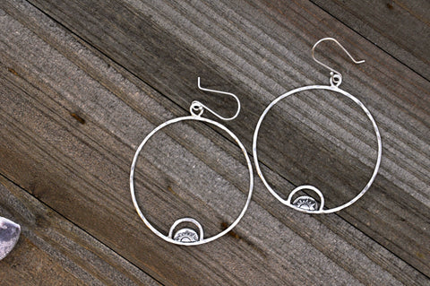 Sunrise Hoop Earrings