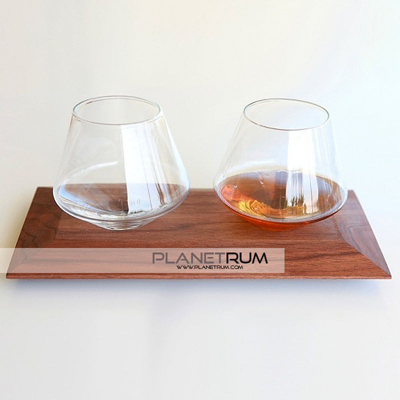 "Sempli Cupa Glasses & Wood Holder By Daniele ""Danne"" Semeraro, Glass, Daniele ""Danne"" Semeraro - Planetrum"