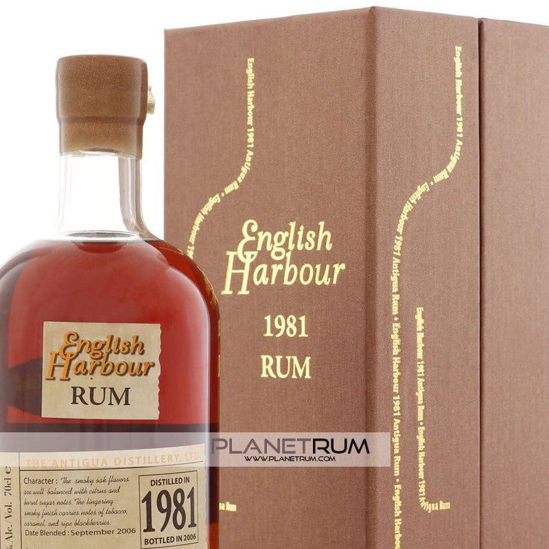 English Harbour 25 Year Old Rum Vintage 1981, Aged Rum, English Harbour - Planetrum