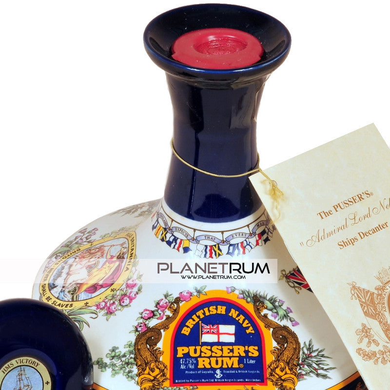 Pussers Admiral Lord Nelson Ships Decanter Rum Aged