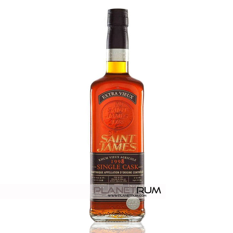 Saint James Rhum Extra Vieux Single Cask 1998, Aged Rum, Saint James - Planetrum