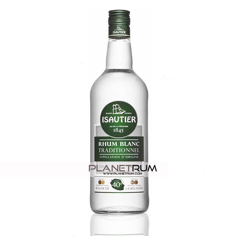 Isautier Agricultural White Rum Plantation 40°, White Rum, Isautier - Planetrum