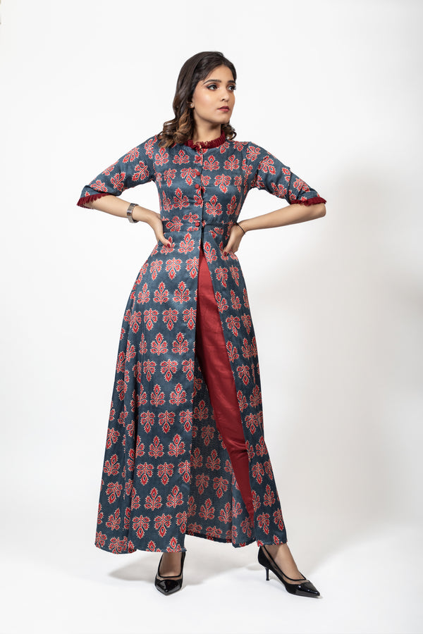 APRYLL - Front open Kurta with Pants