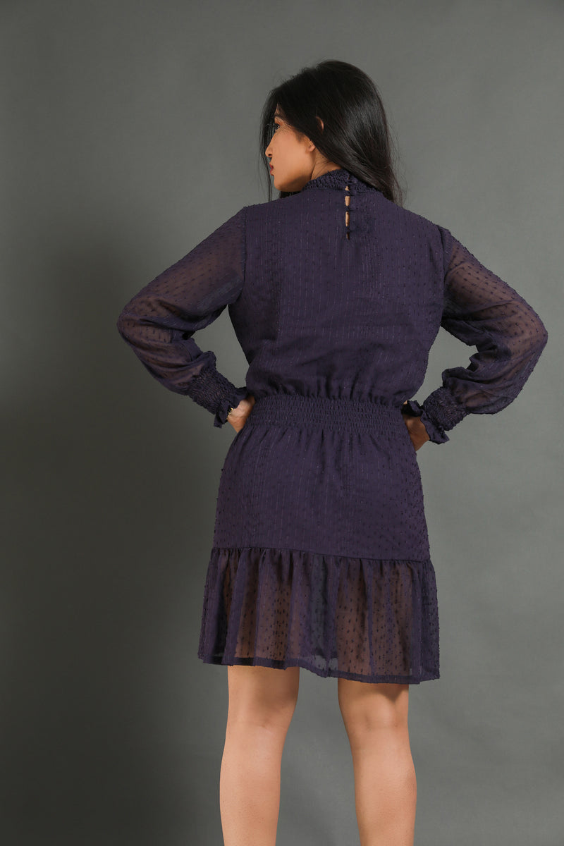 Smocked Purple Dress