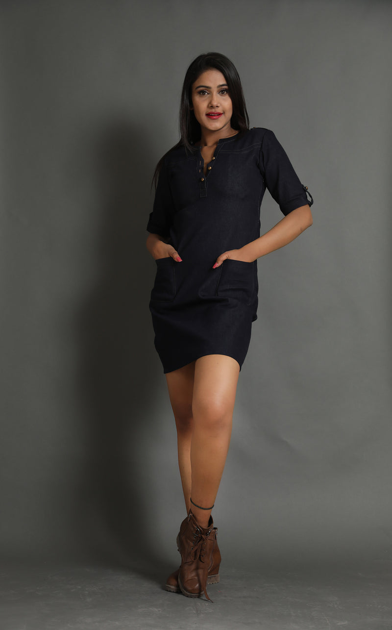 Sense Of Direction Denim Dress