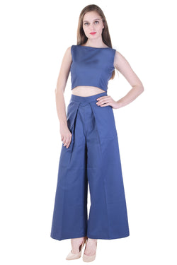Twill Crop Top with pant