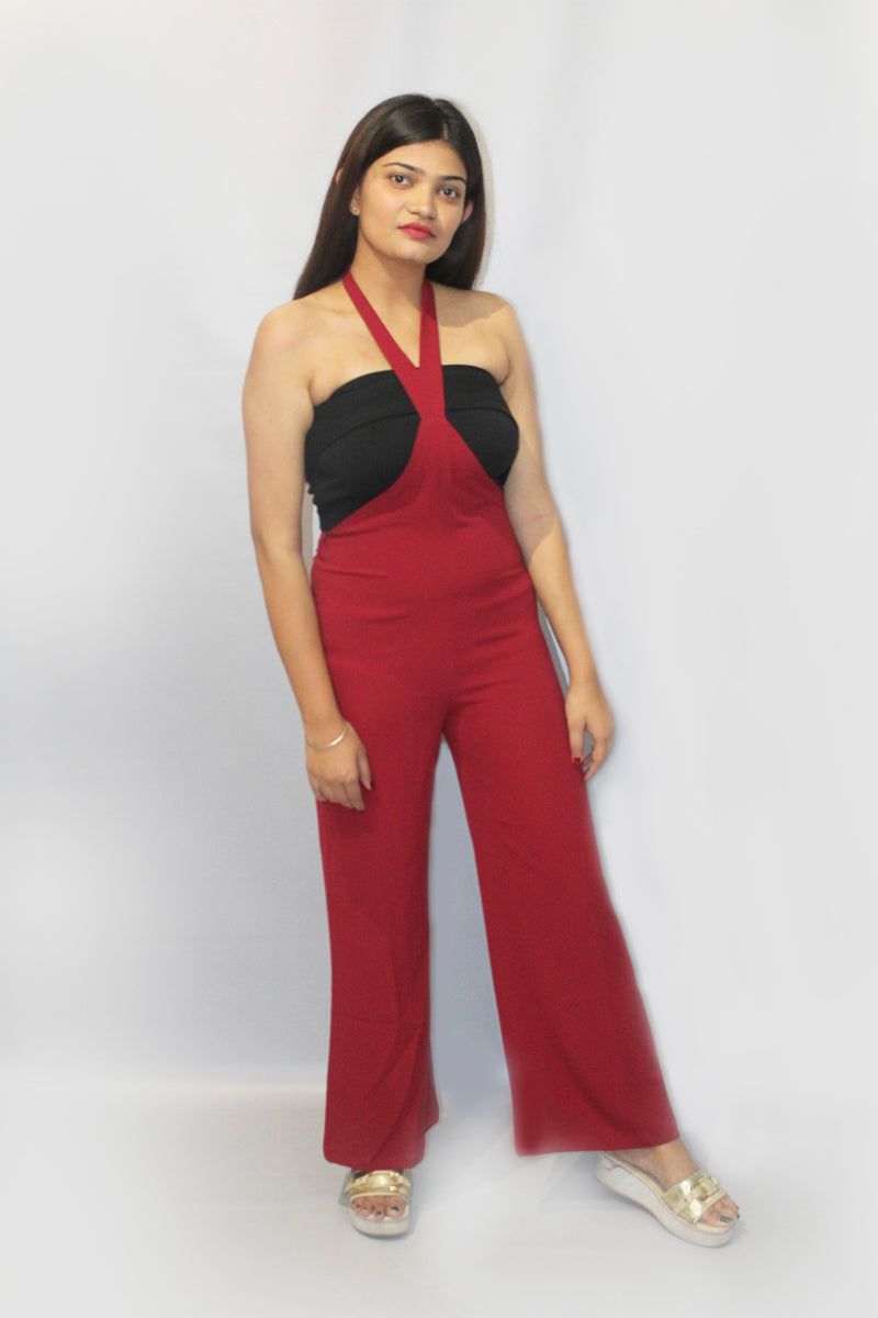 Straight Back Tie Knot Jumpsuit
