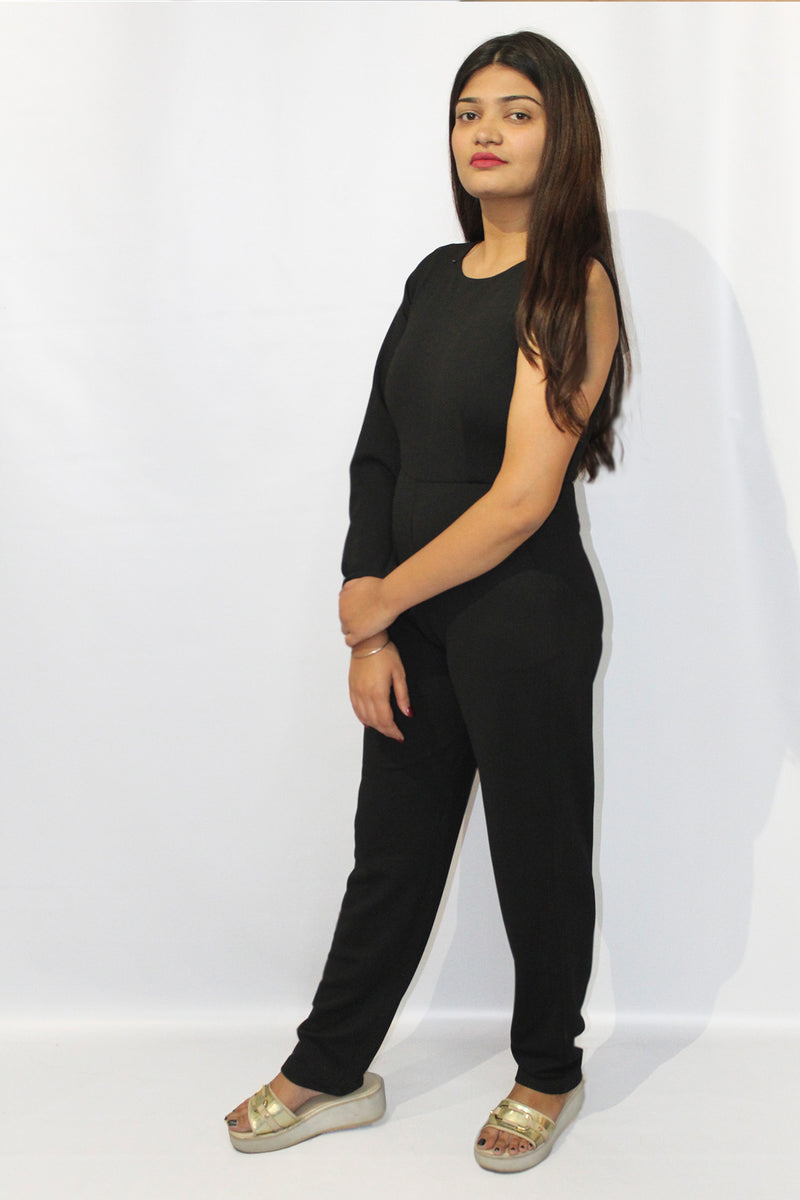 One sided Bell Sleeve jumpsuit