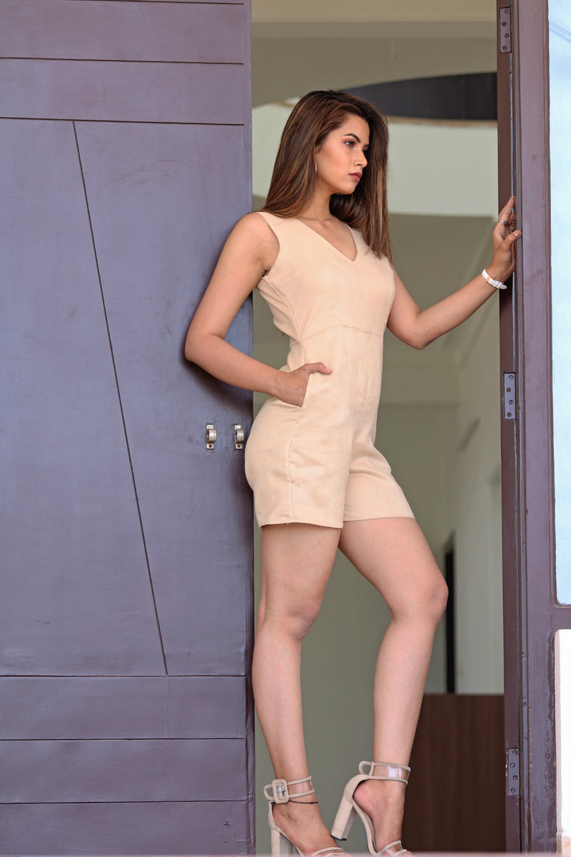Iris- Nude Playsuit
