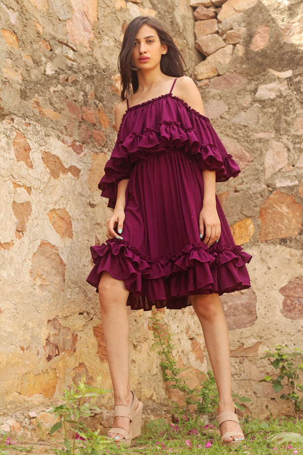 Ashley- Prominent Ruffle Dress