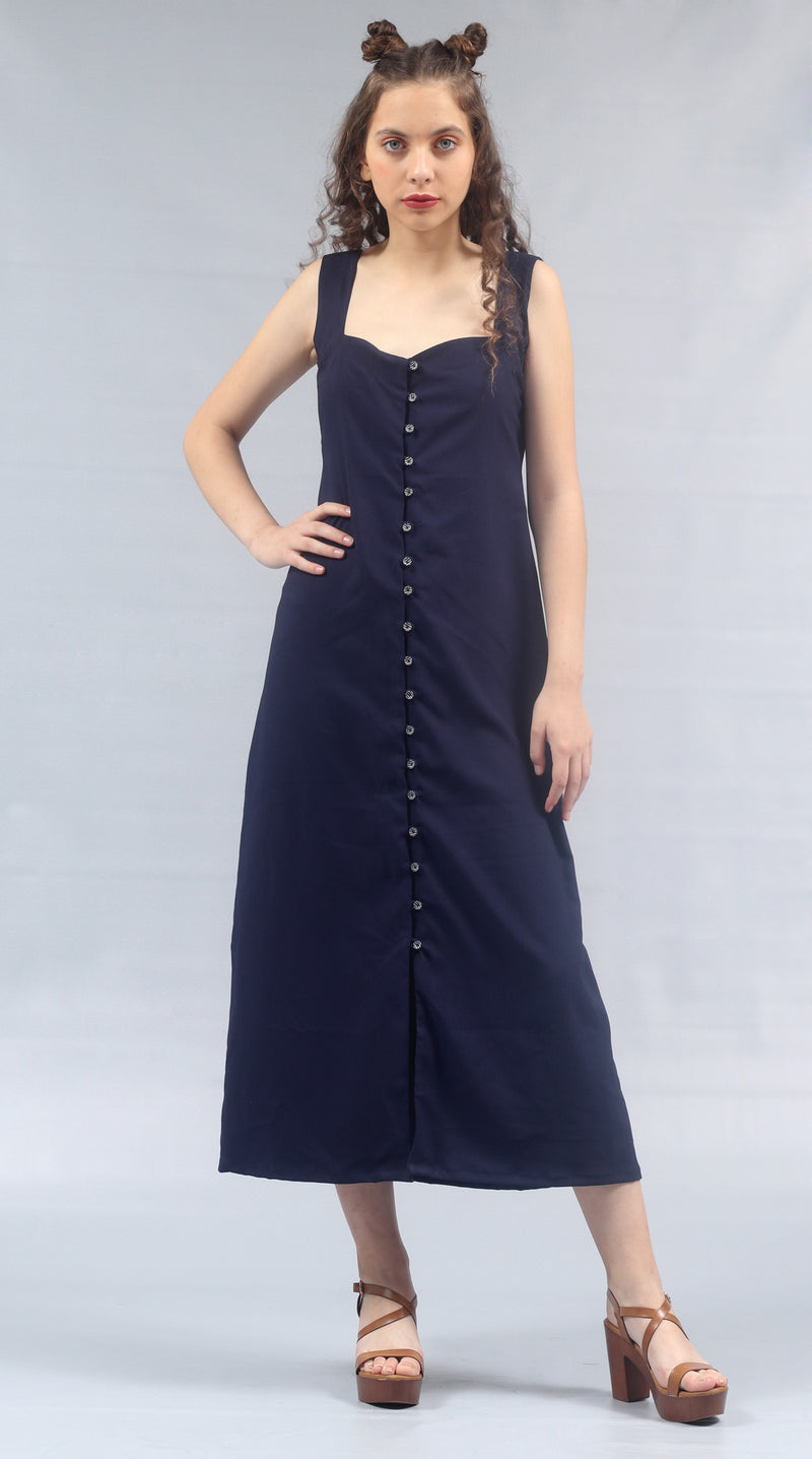 Barba - Sweetheart Neck Dress
