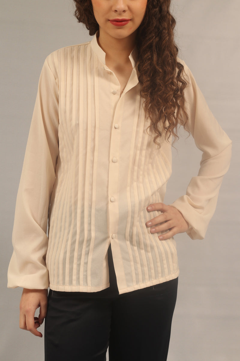 Elsa - Pleated Shirt