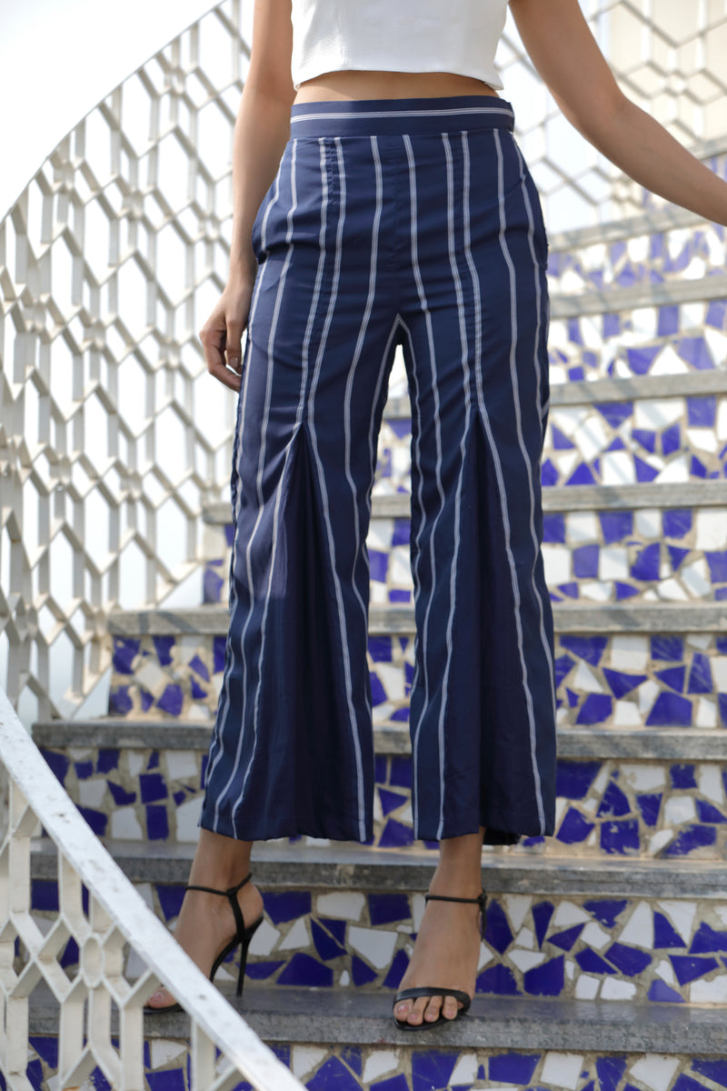 Stripes Box Pleate Pant
