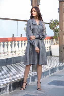 Collared Loose Fitted Dress