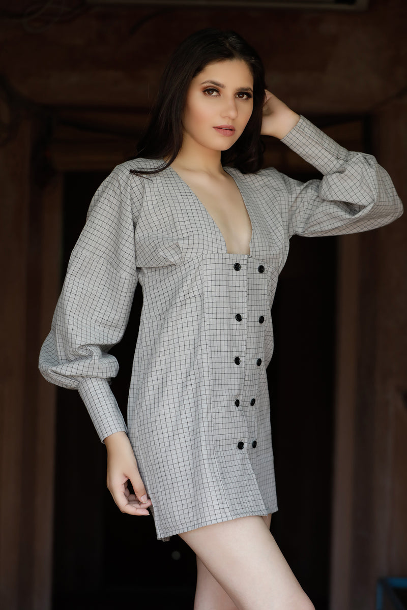 Checked Mini Dress