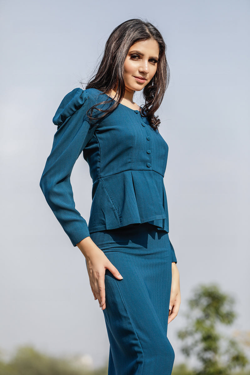 Peplum Top with Skirt Co-ords