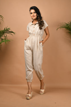 Elasticated hem & waist jumpsuit