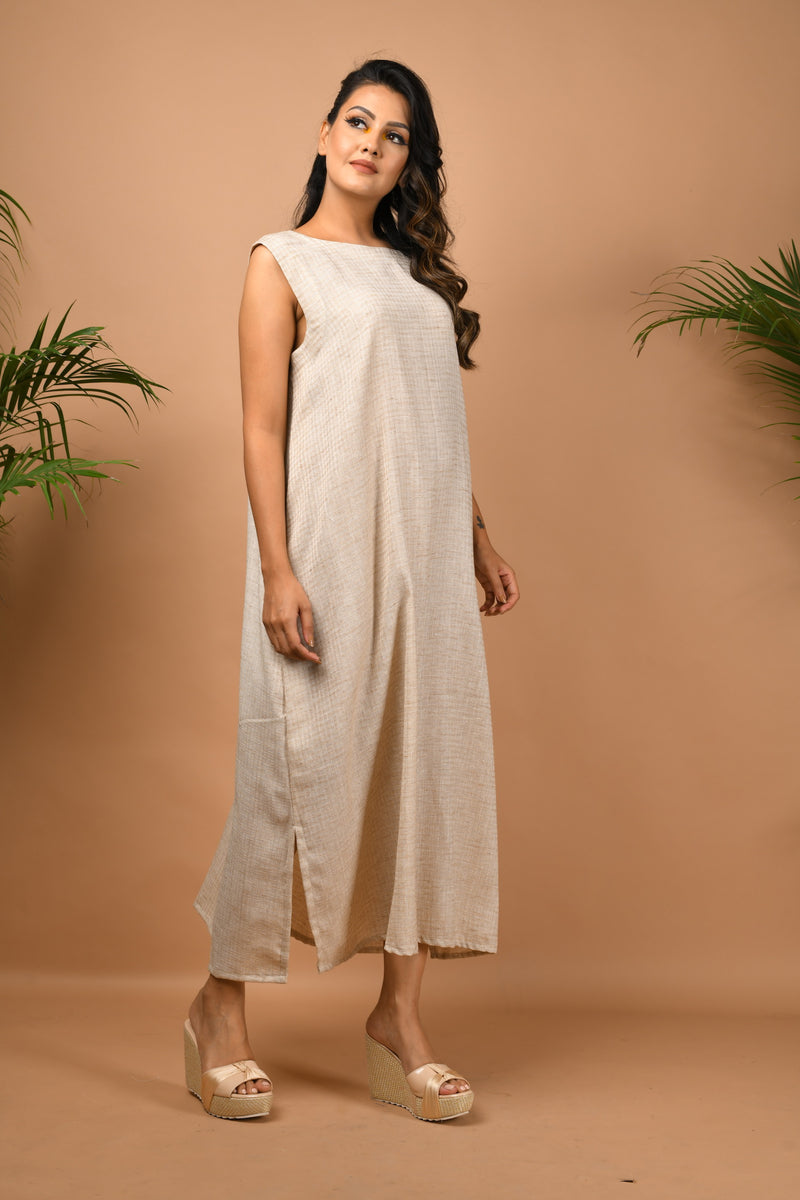 Loose fitted maxi with detachable waist belt